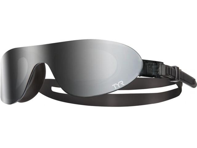 TYR Swimshades Mirrored duikbrillen zwart